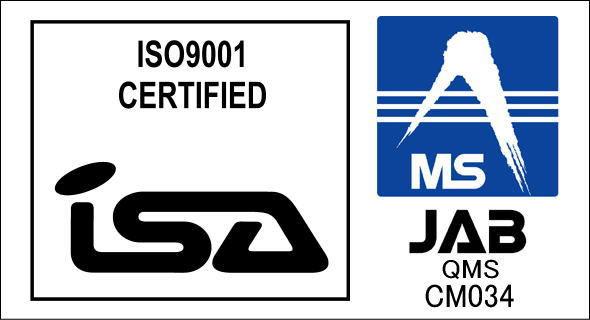 ISA&JABマーク ISO9001 2008年2月発行